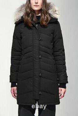 New with tag Canada Goose Lorette Parka Black Down Coat Real Fur size L