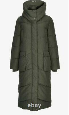 Next Emma Willis 10 Tall Khaki Duvet Wadded Shower Resist Long Coat Jacket Bnwt