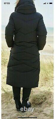 Next Emma Willis 12 Petite Black Duvet Padded Long Coat Jacket Bnwt