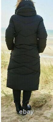 Next Emma Willis 14 Tall Black Duvet Wadded Shower Resist Long Coat Jacket Bnwt