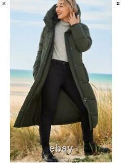 Next Emma Willis 8 Reg Khaki Duvet Wadded Shower Resist Long Coat Bnwt