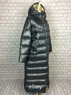 Nike Ladies Uk XL Quilted Down Filled Black Padded Jacket Puffer Coat Rrp£210 Ad