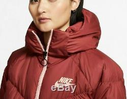 Nike Nsw Sportswear Down Fill Long Puffer Parka Coat Cedar Coral Bv2881-661 S