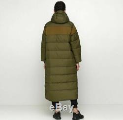 Nike Nsw Sportswear Down Fill Long Puffer Parka Coat Olive Canvas Ah8694-395 S