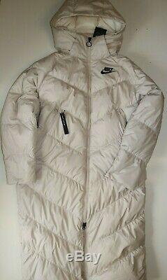 Nike Nsw Sportswear Down Fill Long Puffer Parka Coat -desert Sand Bv2881-008 S