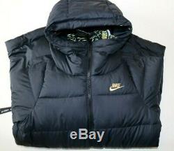 Nike Nsw Sportswear Icon Aop Down Fill Long Puffer Parka Coat Black Ck3947-010 S