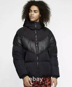 Nike Sporswear Nsw Down-fill Men's Jacket Coat Black Full Zip Ao8915 045 (m)
