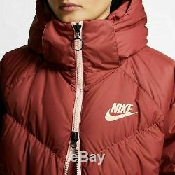 Nike Women's Sportswear Down Fill Hooded Windrunner Long Coat, Parka Size M