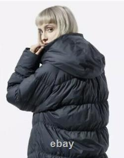 Nike Womens Sportswear Downfill Parka Coat Bv2881 010 Black LARGE Loose Fit