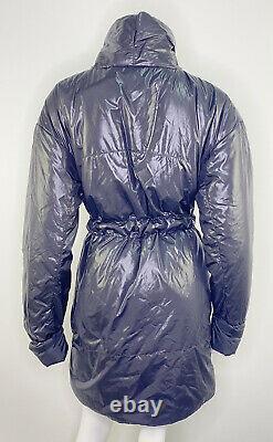 Norma Kamali Sleeping Bag Puffer Jacket Coat Womens Medium Black Belted