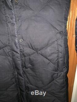 North Face Black Miss Metro Quilted Long Coat Small