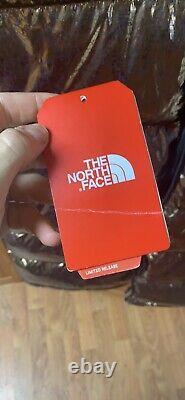 North Face Metallic Down Long Coat Puffer Copper