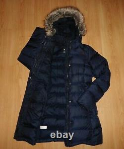North Face Yume Gotham 550 Down Fur Hooded Long Parka Puffa Puffer Jacket Xs 6 8