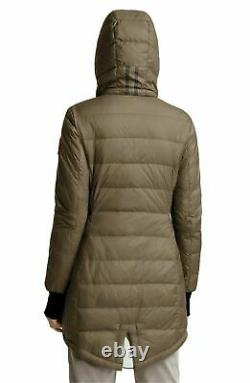 Nwot Canada Goose Down Quilted Slim Puffer Ellison Hooded Long Coat Green Small