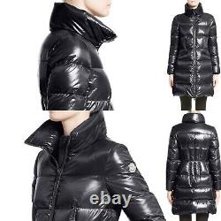 Nwt Moncler Jasminum Black Shiny Down Coat Size 2