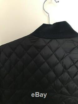 PAUL SMITH £550 Designer Navy Quilted Down Coat Jacket Winter M, Long-Line