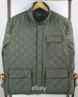 POLO RALPH LAUREN RLPC Size 2XL Mens OD Green Corduroy Leather Field Jacket Coat