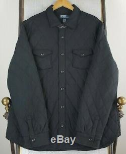 POLO RALPH LAUREN Size 2XL Mens Quilted Leather Trim Insulated Jacket Shirt