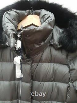 POLO RALPH LAUREN Women Long Magnum Grey Puffer Down Coat Size S RRP £429