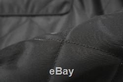 PRADA $2105 Quilted Long Coat Leather Trim EU46 Black