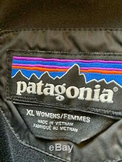 Patagonia Down With It Parka Coat Puffer Quilted Hooded Long Zip Black Size XL
