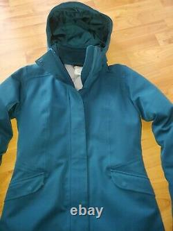 Patagonia Duete Parka Tidal Teal H2NO Stretch Down Puffer Quilted Insulated M