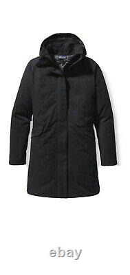 Patagonia Women Duete Parka H2NO Stretch Down Puffer Quilted Lined Black Sz L