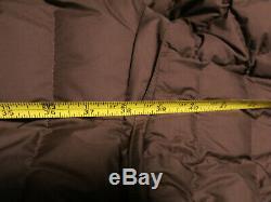 Patagonia Women's S Long Down Hooded Puffer Jacket Coat Dark Green Brown