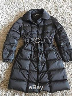 Paul Ka Net A Porter £600 Luxury Dark Brown Quilted Goose Down Long Puffa Coat 8