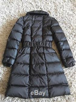 Paul Ka Net A Porter £600 Luxury Dark Brown Quilted Goose Down Long Puffa Coat 8