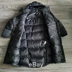 Polo Ralph Lauren Performance Long Down Coat Oversized M L XL BNWT Black