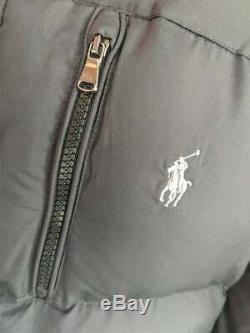 Polo Ralph Lauren Ripstop Long Down Black Jacket / Coat Mens Medium BNWT