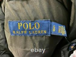 Polo Ralph Lauren Women's Packable Aviator Black Down Puffer Coat Jacket L $348