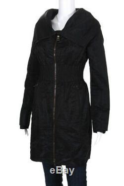 Prada Womens Long Sleeve High Neck Jacket Coat Black Size 42