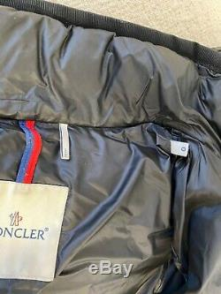 Pre Owned Moncler HERMINE Women's Down Filled Quilted Long Jacket Black Size 0