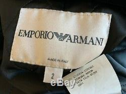 RAREVINTAGEITALY Authentic EMPORIO ARMANI Runway Velvet Long Cape WRAP COAT 36