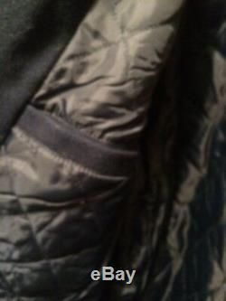 REDUCED! Men's Long Wool Blend Coat Real Fox Fur Collar