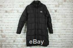 RP £399 The North Face Size M Dark Brown 600 Down Long Puffer Jacket Parka Coat
