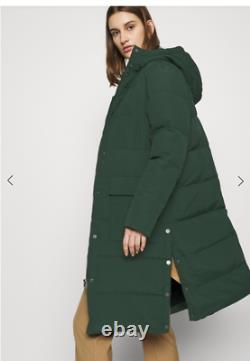RRP £230 SELECTED FEMME JENNY MIDI COAT Green Long Puffer Quilted Parka Down 8