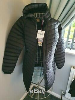 Rab Womens Microlight Parka / Down Insulation / Long Coat / BNWT/ Size 14