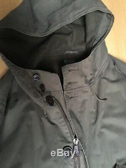 Ralph Lauren Mens XL XXL 56in Heavy Duty Hooded Quilt Lined Long Trench Coat GC