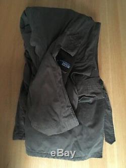 Ralph Lauren Mens XL XXL56in Country / Military Wool Quilt Hood Long Trench Coat
