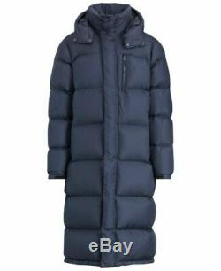 Ralph Lauren Polo Quilted Long Down Fill Coat Jacket Parka Navy XL RRP £435