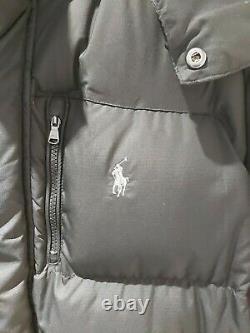 Ralph Lauren Polo Ripstop Long Down Fill Jacket / Coat Black / UK S