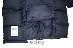 Ralph Lauren Polo Ripstop Long Down Fill Jacket / Coat Navy Large L BNWT