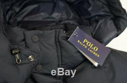 Ralph Lauren Polo Ripstop Long Down Fill Jacket / Coat Navy / UK M
