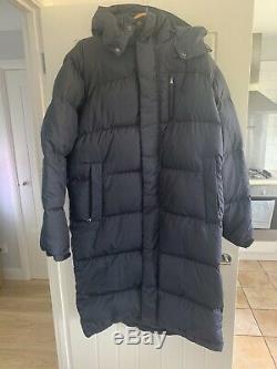 Ralph Lauren Polo Ripstop Long Down Fill Jacket / Coat Navy / UK S