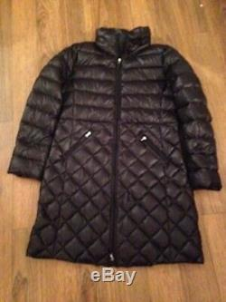 Ralph Lauren SIDE BUCKLE PACKABLE QUILTED DOWN Long COAT Large BLack NEW