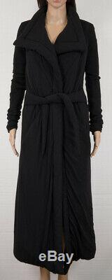 Rick Owens Lilies Padded/quilted Black Funnel Neck Long Coat Black Size 4