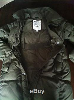 Ruehl 925 by Abercrombie Fitch Long Puffer Coat Jacket Olive Green Large